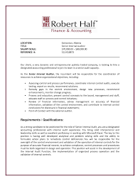 resume internal auditor