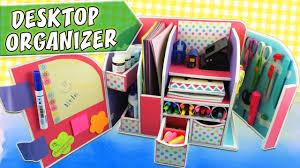 desktop organizer cardboard back to school apasos crafts diy rh you com diy wooden desktop organizer diy desktop reference organizer