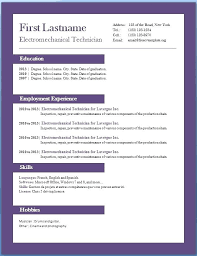 Resume Format Template Free Download Basic Resume Template Word