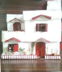 How To Make House With Chart Paper Amina Creations Doll House