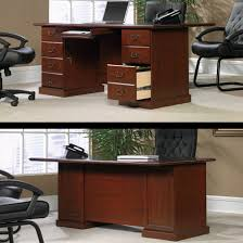 the most sauder heritage hill classic cherry executive desk at menards in sauder heritage hill executive desk plan blogajum com