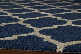 navy and tan area rug