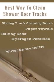 Shower Door clean shower door photographs : Best Way To Clean Shower Door Tracks