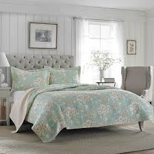 Laura Ashley Rowland Reversible Quilt Set | Hayneedle &  Adamdwight.com