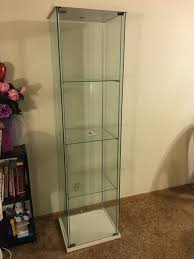ikea detolf glass door cabinet white furniture in pacifica