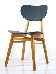 2 fifties wooden dining chairs vintage retro