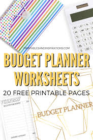 Budget For Free Budget Planner Worksheets 20 Free Printables Printables