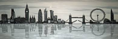 london skyline oil painting gaudimoments com unique fully handcrafted works