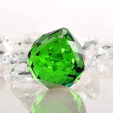 30mm green crystal glass prisms chandelier lamp parts wedding home decor pendant