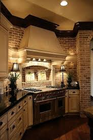 painting faux brick backsplash in kitchen