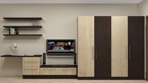 Tv Shelf Design India Modular Wardrobe Design For Indian Bedroom Having 4 Door