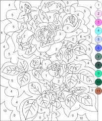 color by number flower coloring pages color by number pages pages marvellous pages for color by number flower coloring pages