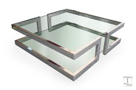 square glass coffee table intended for lisa by gonzalo de salas designs 15