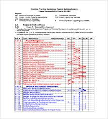 Responsibility Chart Template 11 Free Sample Example
