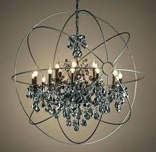 orb chandelier polished nickel restoration hardware smoke crystal foucaults foucault ch