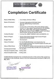 Examples Of Executive Resumes Civil Work Completion Certificate