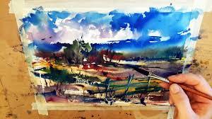 watercolor landscape artists famous watercolor painting landscape demonstration rainy day you