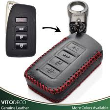 details about vitodeco leather keyless smart key fob cover for lexus is gs rx es nx ls rc lx