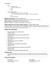 Ccnp Resume Format Resume Template Ideas