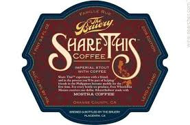 the bruery share this coffee imperial stout beer california usa label