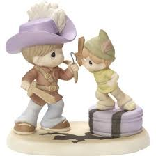 <b>Disney Peter Pan Never</b> Grow Up, Bisque Porcelain Figurine