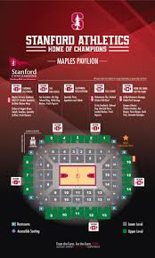 Stanford Basketball Seating Chart Maples Pavilion Concessions Stanford R De