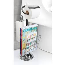 Toilet Roll Holder Magazine Rack Amazon Toilet Paper Caddy Tissue Dispenser And Stand With 17