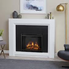 Real Flame Ashley 48 in. Electric Fireplace in White-7100E-W - The ...