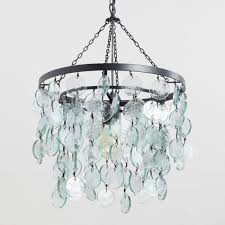 aqua dd sea glass disc pendant lamp