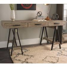 rustic distressed wood office desk