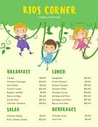 Printable Stencils For Kids Customize 95 Kids Menu Templates Online Canva