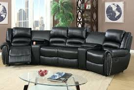 sectional black leather 5 seater recliner sectional sofa black leather power reclining sectional black leather