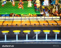 Wooden Horse Race Game Pattern stockphotoviewofcarnivalgamehorseracewaitingforplayers 37