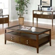 wood and glass coffee table sets dark brown wood coffee table with glass top table set traditional wood and glass coffee table set for a modern living room