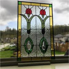 antique stained glass window vintage