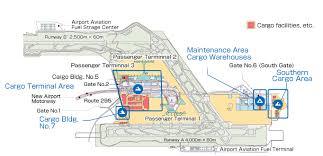 Layout Cargo Facilities Narita International Airport