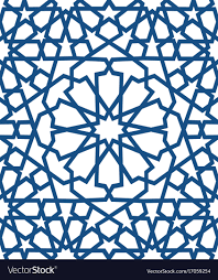 Islamic Geometric Patterns Delectable Blue Islamic Pattern Seamless Arabic Geometric Vector Image