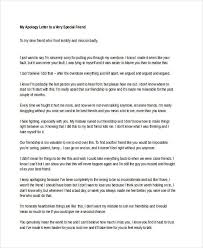 Letter of Apology to a Friend