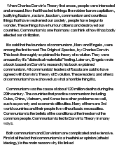 charles darwin and communism at com essay on charles darwin and communism