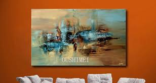 large wall paintingsAliexpresscom  Buy 100 Handmade Abstract Oil Painting Large
