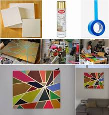 DIY Tape Painting on Canvas - Abstract Canvas Painting