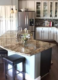 modern curved kitchen island. Plain Island Modern Curved Kitchen Island Bright Nead Golden Brick Backsplash Throughout