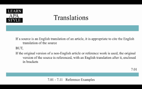 Learn Apa Style Section 701 711 Reference Examples