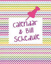 Calendar & Bill Schedule Cover | Let The Awesomeness Begin…