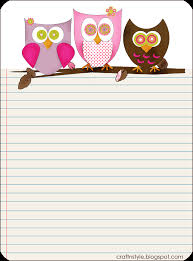 Lined Stationery Paper Pin By Tara Strunk On Education Pinterest Owl Printable 21