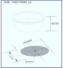 kalantos round bathtub designer bathroom tub