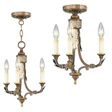 livex 8836 64 bristol manor traditional palacial bronze with gilded accents mini hanging chandelier loading zoom