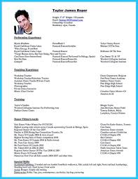 Dance Resume Format Cool The Best And Impressive Dance Resume Examples Collections 12