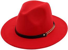 <b>Women</b> Girls <b>Fashion Autumn</b> Winter Retro Jazz Hat Trilby Hat Red ...