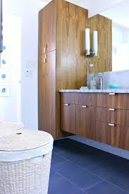 bathroom remodel before and after. A Mid-Century Modern Inspired Bathroom Renovation - Before After // Floating Walnut Vanity Remodel And M